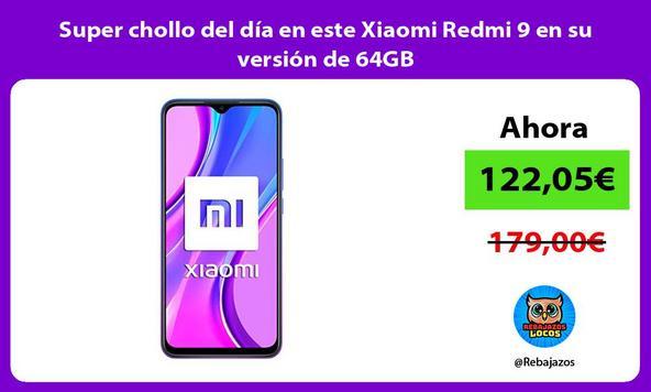 Super chollo del día en este Xiaomi Redmi 9 en su versión de 64GB