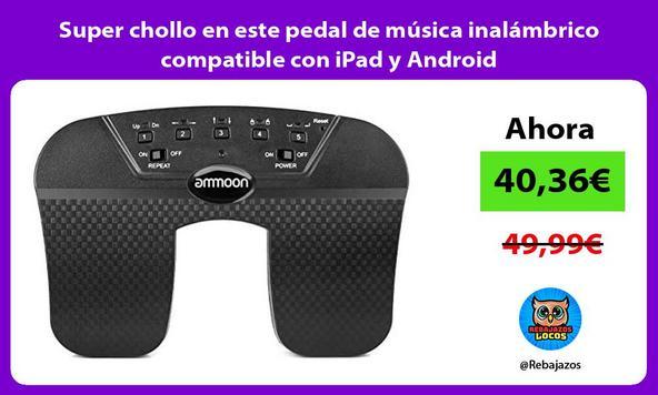 Super chollo en este pedal de música inalámbrico compatible con iPad y Android