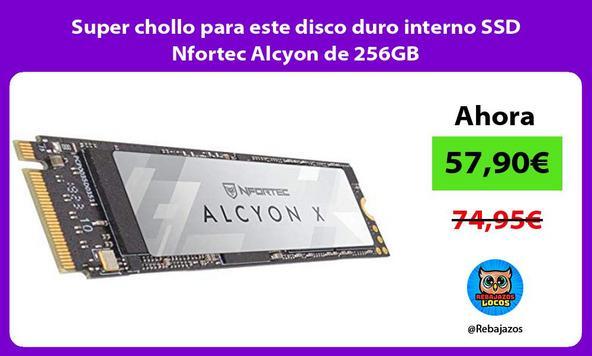 Super chollo para este disco duro interno SSD Nfortec Alcyon de 256GB