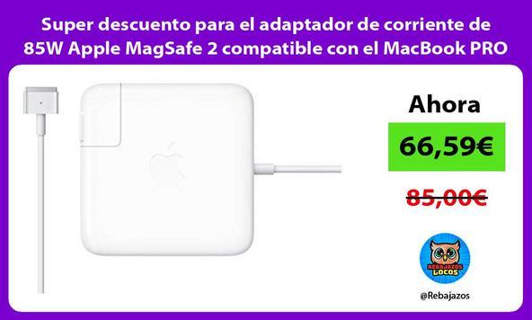 Super descuento para el adaptador de corriente de 85W Apple MagSafe 2 compatible con el MacBook PRO