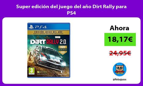Super edición del juego del año Dirt Rally para PS4