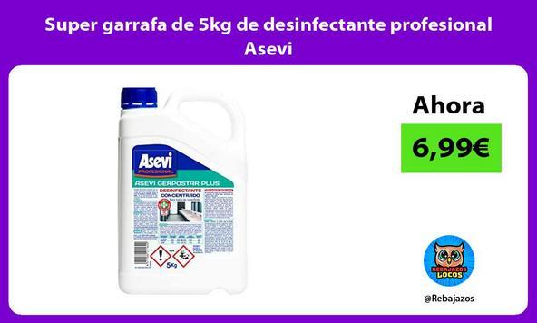 Super garrafa de 5kg de desinfectante profesional Asevi