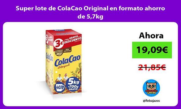Super lote de ColaCao Original en formato ahorro de 5,7kg