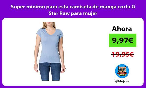 Super mínimo para esta camiseta de manga corta G Star Raw para mujer