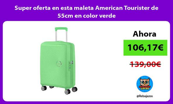 Super oferta en esta maleta American Tourister de 55cm en color verde