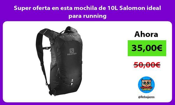 Super oferta en esta mochila de 10L Salomon ideal para running