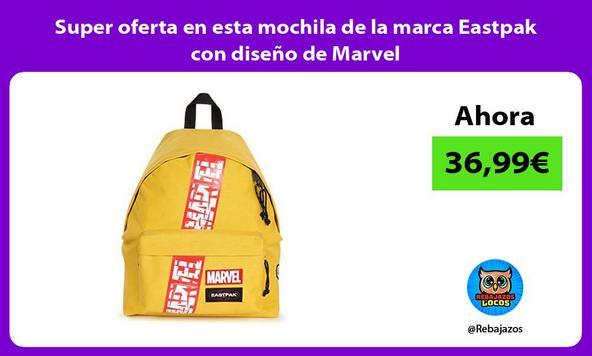 Super oferta en esta mochila de la marca Eastpak con diseño de Marvel