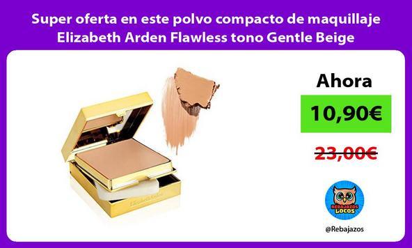Super oferta en este polvo compacto de maquillaje Elizabeth Arden Flawless tono Gentle Beige