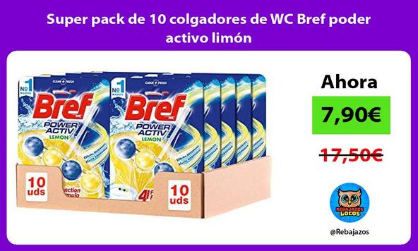 Super pack de 10 colgadores de WC Bref poder activo limón