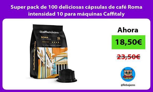 Super pack de 100 deliciosas cápsulas de café Roma intensidad 10 para máquinas Caffitaly