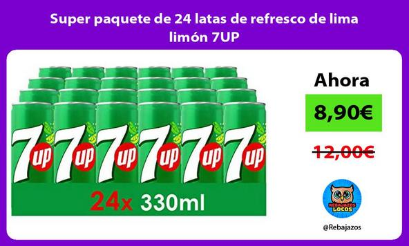 Super paquete de 24 latas de refresco de lima limón 7UP