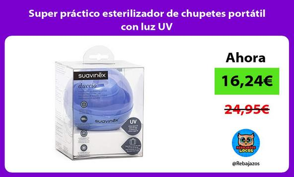 Super práctico esterilizador de chupetes portátil con luz UV