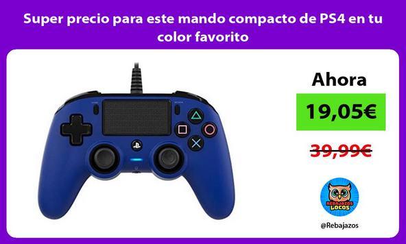 Super precio para este mando compacto de PS4 en tu color favorito