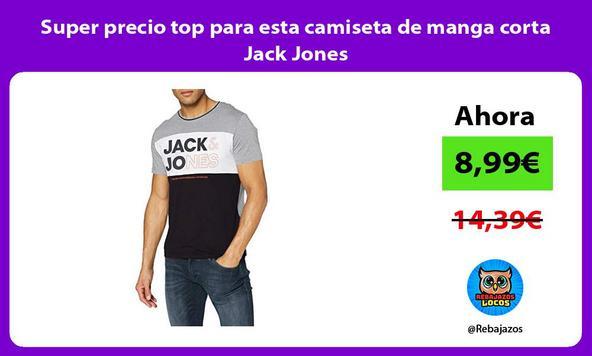 Super precio top para esta camiseta de manga corta Jack Jones