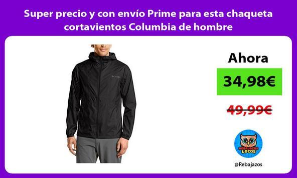 Super precio y con envío Prime para esta chaqueta cortavientos Columbia de hombre
