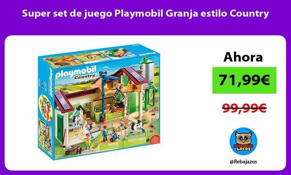 Super set de juego Playmobil Granja estilo Country