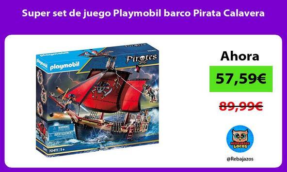 Super set de juego Playmobil barco Pirata Calavera