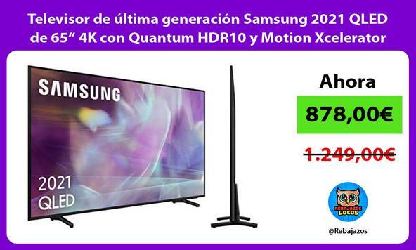 """Televisor de última generación Samsung 2021 QLED de 65"""" 4K con Quantum HDR10 y Motion Xcelerator"""