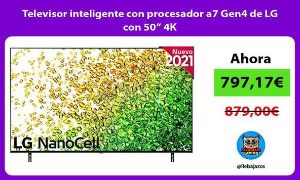 """Televisor inteligente con procesador a7 Gen4 de LG con 50"""" 4K"""