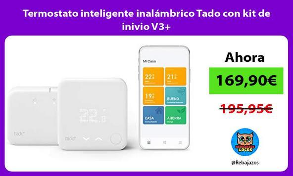 Termostato inteligente inalámbrico Tado con kit de inivio V3+/