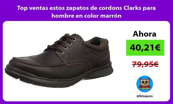 Top ventas estos zapatos de cordons Clarks para hombre en color marrón