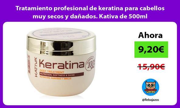 Tratamiento profesional de keratina para cabellos muy secos y dañados. Kativa de 500ml
