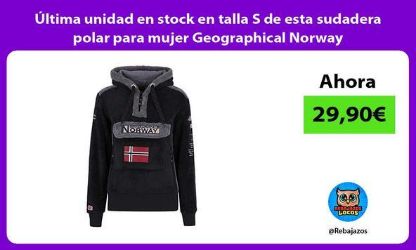 Última unidad en stock en talla S de esta sudadera polar para mujer Geographical Norway