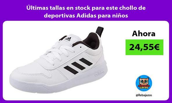 Últimas tallas en stock para este chollo de deportivas Adidas para niños