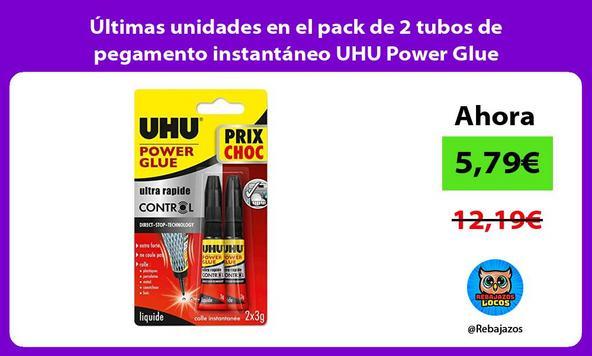 Últimas unidades en el pack de 2 tubos de pegamento instantáneo UHU Power Glue