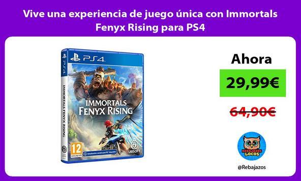 Vive una experiencia de juego única con Immortals Fenyx Rising para PS4