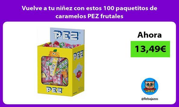 Vuelve a tu niñez con estos 100 paquetitos de caramelos PEZ frutales
