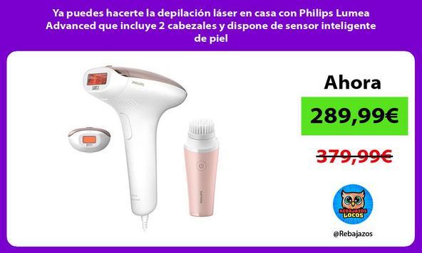 Ya puedes hacerte la depilación láser en casa con Philips Lumea Advanced que incluye 2 cabezales y dispone de sensor inteligente de piel/