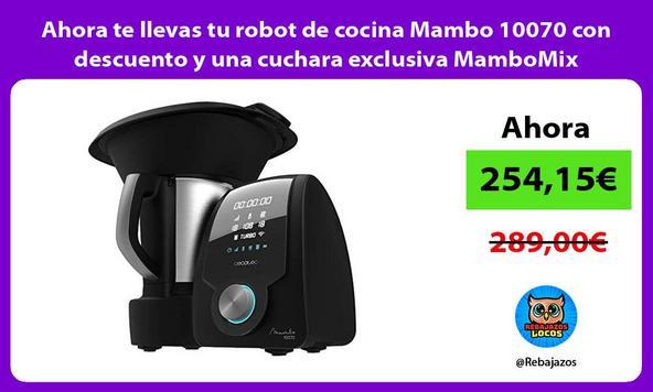 Ahora te llevas tu robot de cocina Mambo 10070 con descuento y una cuchara exclusiva MamboMix