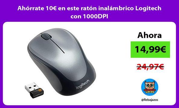 Ahórrate 10€ en este ratón inalámbrico Logitech con 1000DPI