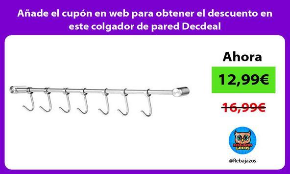 Añade el cupón en web para obtener el descuento en este colgador de pared Decdeal
