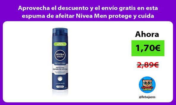 Aprovecha el descuento y el envío gratis en esta espuma de afeitar Nivea Men protege y cuida