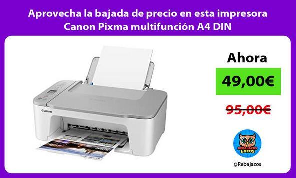 Aprovecha la bajada de precio en esta impresora Canon Pixma multifunción A4 DIN