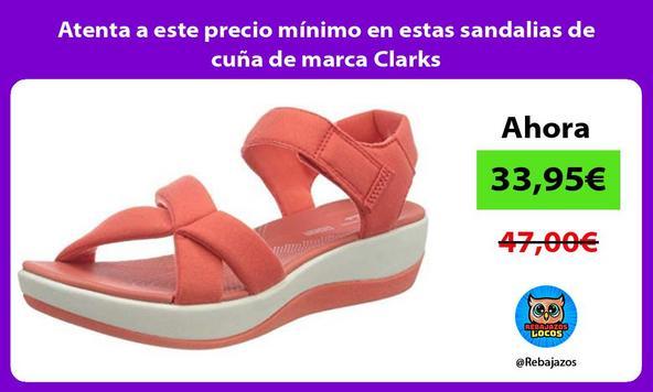 Atenta a este precio mínimo en estas sandalias de cuña de marca Clarks
