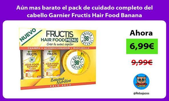Aún mas barato el pack de cuidado completo del cabello Garnier Fructis Hair Food Banana