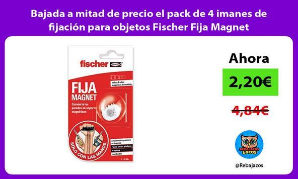 Bajada a mitad de precio el pack de 4 imanes de fijación para objetos Fischer Fija Magnet