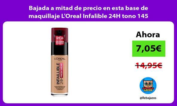 Bajada a mitad de precio en esta base de maquillaje L'Oreal Infalible 24H tono 145