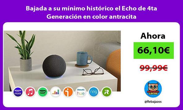 Bajada a su mínimo histórico el Echo de 4ta Generación en color antracita