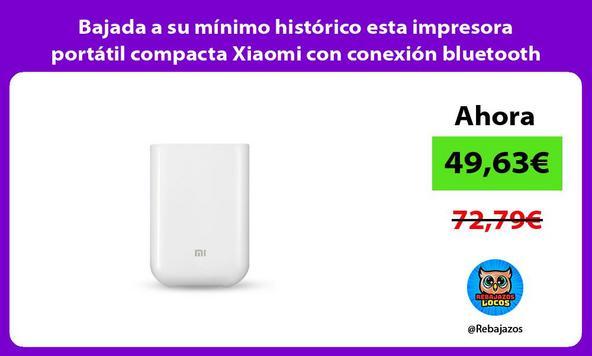 Bajada a su mínimo histórico esta impresora portátil compacta Xiaomi con conexión bluetooth