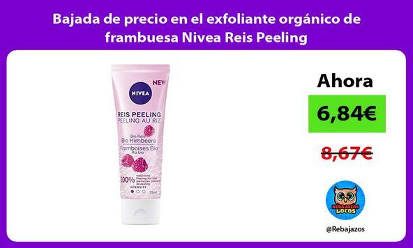 Bajada de precio en el exfoliante orgánico de frambuesa Nivea Reis Peeling