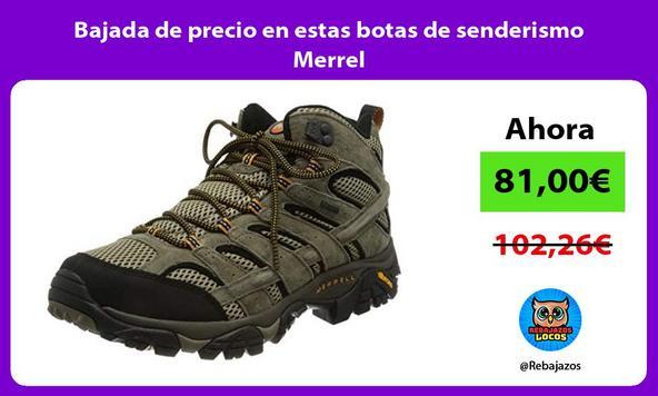 Bajada de precio en estas botas de senderismo Merrel
