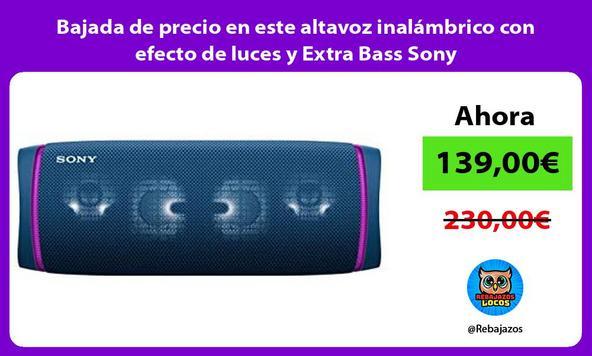 Bajada de precio en este altavoz inalámbrico con efecto de luces y Extra Bass Sony
