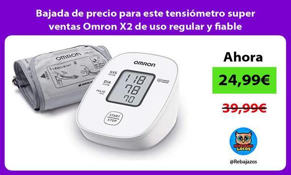 Bajada de precio para este tensiómetro super ventas Omron X2 de uso regular y fiable
