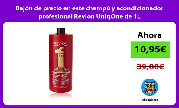 Bajón de precio en este champú y acondicionador profesional Revlon UniqOne de 1L