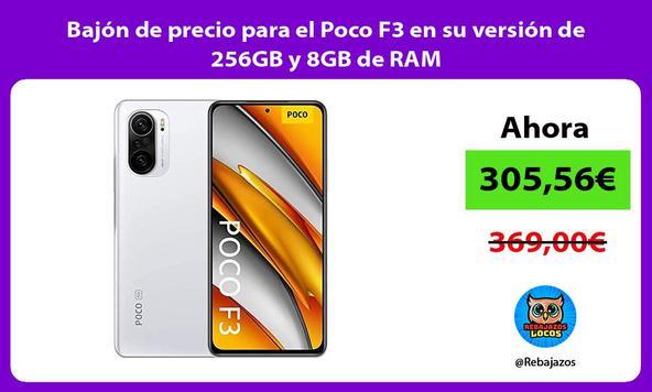 Bajón de precio para el Poco F3 en su versión de 256GB y 8GB de RAM