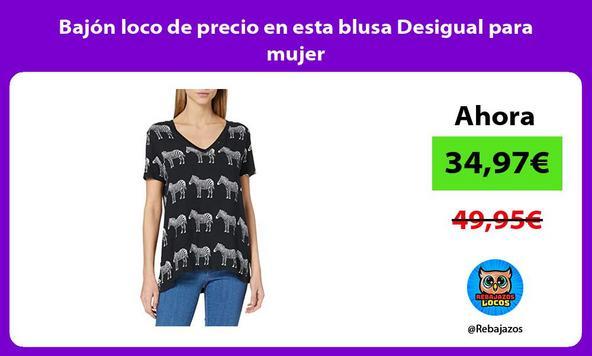 Bajón loco de precio en esta blusa Desigual para mujer
